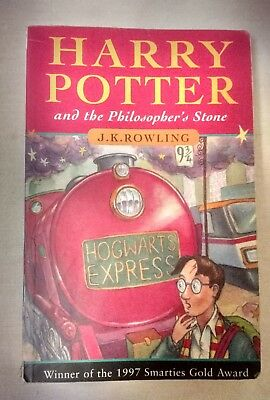 Harry Potter and the Philosopher's Stone 1st edition paperback