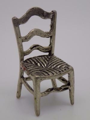Vintage Solid Silver Chair Miniature / Figurine - Stamped - Made in Italy