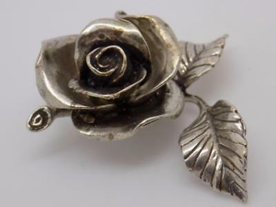 Vintage Solid Silver Rose Miniature / Figurine - Tested - Made in Italy