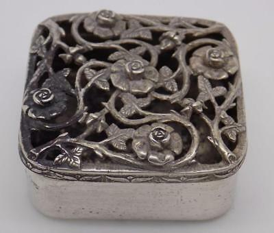 Vintage Solid Silver Scent Diffuser Perforated Box - Stamped - Made in Italy