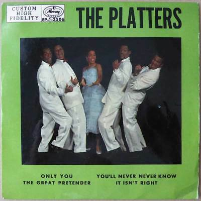 """7"""" EP - The Platters - Only You - Schweden 1957 - VG+ to VG+(+)"""