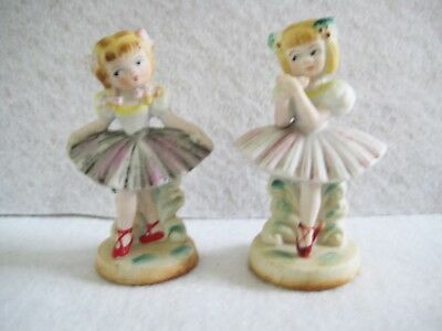 PAIR of Vintage Young Girl BALLERINA Figurines ~ Made in Japan