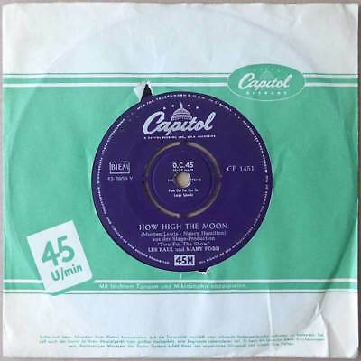 """7""""  Les Paul und Mary Ford - How Hight The Moon - Deutschland 1950-ties"""