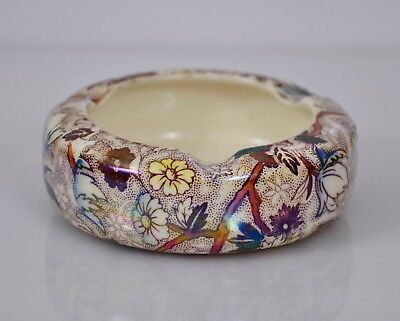 Beautiful MALING WARE 1930s Lustre ASHTRAY Floral Design
