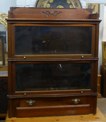 Antique Globe Wernicke Sectional Bookcase with Drawer - Barrister's Bookcase