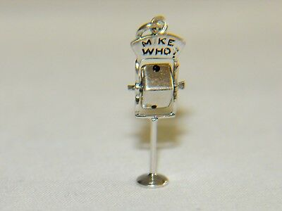 """Vintage Microphone Pendant """"Mike Who"""" Sterling Silver"""