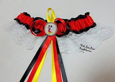 Mickey Mouse Lace Disney Bridal Wedding Garter. minnie mouse