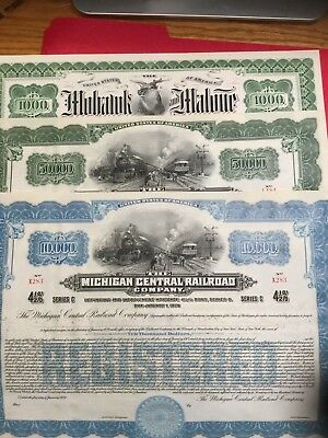 3 different on issued railroad bonds