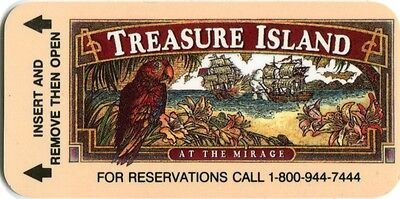 Las Vegas Treasure Island Casino 1st Issue Slim Room Key