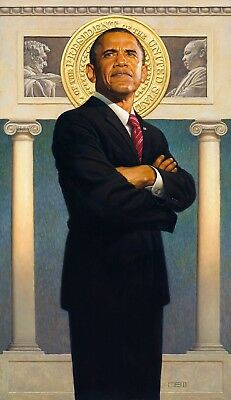 President Obama by Thomas Blackshear Hand Signed Limited Edition Lithograph