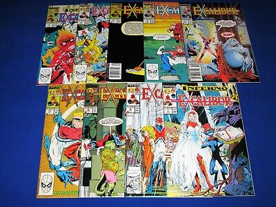 Lot of 9 EXCALIBUR Issues 2 - 10 [Marvel 1988] VF+ or Better!
