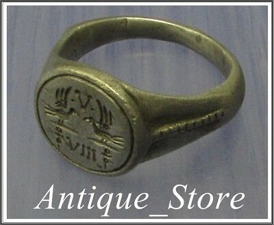 ** TWO LEGIONS V and VIII ** Ancient Silver Legionary Roman Ring **RARE**