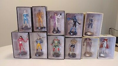 8 EAGLEMOSS DC mini statues and 3 Chess In boxes Lot #4 L@@K