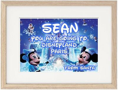 You Are Going to Disneyland A4 Poster Christmas Gift Personalise Unique