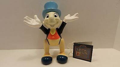 Jiminy Cricket Jointed Porcelain Disney Doll Schmid Music Box  Japan VGC