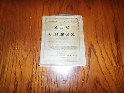 vintage ABC of Chess by A Lady, vintage rule book with adverts