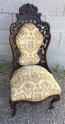 J.h. Belter Rococo Rosewood Side Chair