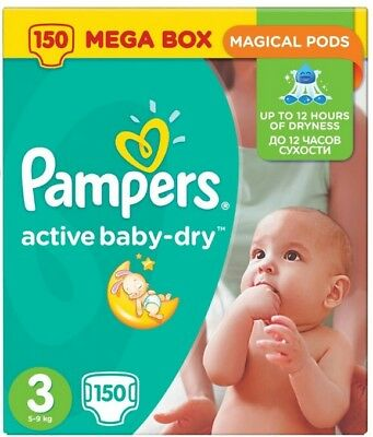 Pampers Active Baby Dry Gr.3 150 Stück