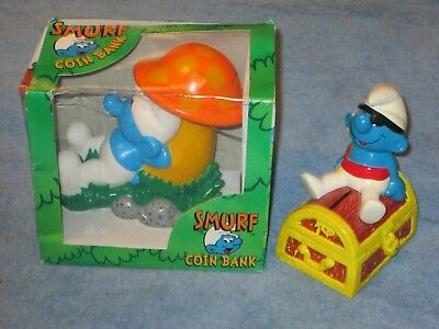 Smurfs Collectables Lot I  2 Coin BAnks (one still in box)