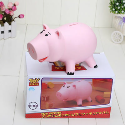 "8""20cm Toy Story Hamm Piggy Bank Pink Pig Coin Box Pvc Toys Children Model Cute"