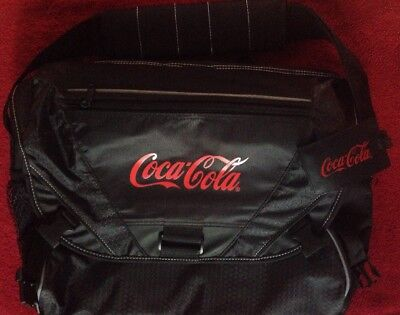 Coca-Cola Laptop Tablet Shoulder Travel Technology Bag Airport Friendly Coke NEW