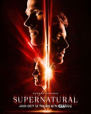 "Supernatural TV series Season 13 Jared Padalecki Premiere Poster 13×20"" 24×36"""