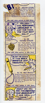 1948 Topps Bazooka Atom Bubble Boy Gum Premium Insert Wrapper Comic Baseball