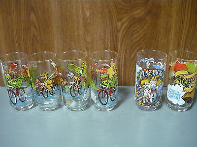 "Muppet Drinking Glasses featuring ""The Great Muppet Caper"""