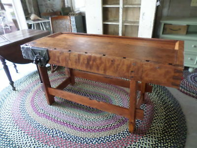 "English ""Record"" 52 1/2"" Workbench Circa Late 1800's"