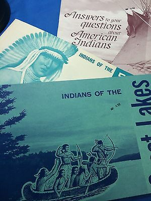 3 1960s Bureau American INDIAN AFFAIRS Books Central Plains Great Lakes Answers