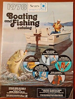 Sears Sports Center 1978 Boating and Fishing Catalog 62 pages EX COND