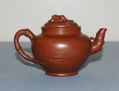 Small Antique Vintage Chinese Yixing Teapot Pottery Terracotta Zisha Signed