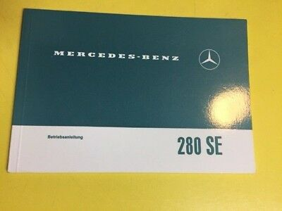 Original Vintage Mercedes 280 SE owner's Manual German Text Orignal