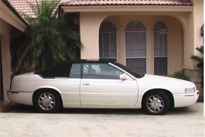 1998 Cadillac Eldorado ETC White Diamond Pearl with Black Interior Leather & Like-New Black Carriage Top