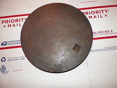 Antique CAST IRON Stove Lid For COAL WOOD Burning COOK Stove 8 1/4""