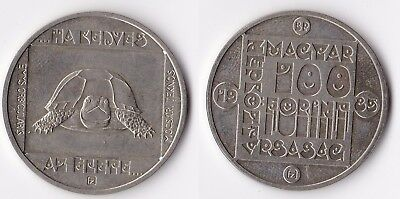 1985 Hungary 100 forint coin turtle