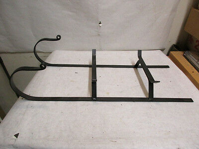 """Longaberger Wrought Iron Sleigh with Runners 18""""x7.5"""" - Estate Listing - NR"""