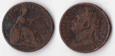 1825 Great Britain 1 farthing coin