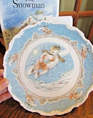 """Royal Doulton The Snowman """"walking In The Air"""" Christmas Plate, 1St In Series"""
