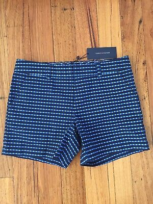 Brand New With Tags Tommy Hilfiger Hollywood Navy Dot Shorts Size 2 Rrp $109