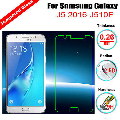 9H Premium Tempered Glass Screen Film Protector For Samsung Galaxy J5 J7 J1 2016