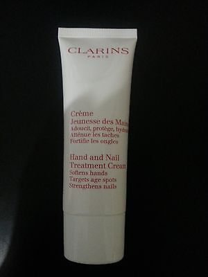 New Clarins Hand & Nail Treatment Cream Softens Hands Targets Age Spots 50ml