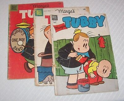 Lot Of  3 Tubby #7, 15, 17 Little Lulu Dell Comics Lower Grade!!!