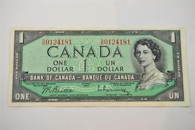 1954 Bank Of Canada $1 One Dollar Bill. G/n0124181. Free Combined Shipping