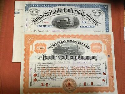 Northern Pacific Railroad Company and Chicago, Rock Island & Pacific Certficates