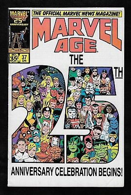 Marvel Comics Marvel Age The 25th Anniversary Celebration Vol 1 April 1986 #37