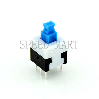 High Quality Square Tact Push Button Switch Self-locking 6 Pins 8*8mm