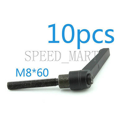10 pcs Machinery M8 x 60mm Threaded Knob Adjustable Handle Clamping Lever