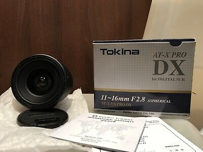 Tokina AT-X PRO 11-16mm f/2.8 AF DX Lens for Canon *NEAR NEW CONDITION