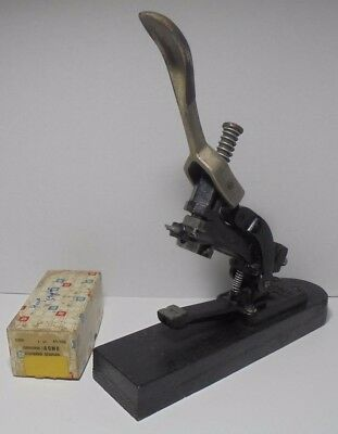 Antique Vintage ACME No.1 Industrial Cast Iron Stapler ACME Book Binding Stapler